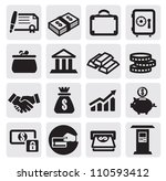 vector black business financial ... | Shutterstock .eps vector #110593412