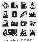 vector black oil and petrol... | Shutterstock .eps vector #110593418