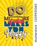 motivational typography vector... | Shutterstock .eps vector #1105935365