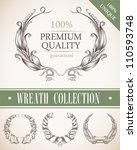 wreath collection | Shutterstock .eps vector #110593748