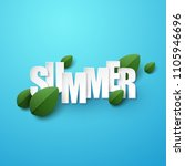 summer background with green... | Shutterstock .eps vector #1105946696