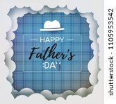 happy father's day greeting... | Shutterstock .eps vector #1105953542