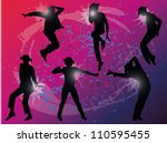 vector silhouette of the...
