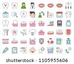 dentist and dental clinic...   Shutterstock .eps vector #1105955606