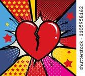 comic speech bubble. love... | Shutterstock .eps vector #1105958162
