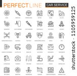car repair service thin line... | Shutterstock . vector #1105959125