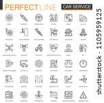 car repair service thin line...   Shutterstock . vector #1105959125