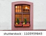 front windows door to the house | Shutterstock . vector #1105959845