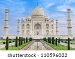 taj mahal in india   Shutterstock . vector #110596022