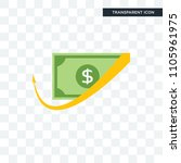 cashback vector icon isolated... | Shutterstock .eps vector #1105961975