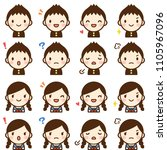 isolated set of cute junior... | Shutterstock .eps vector #1105967096
