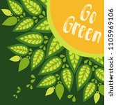 go green. vector template | Shutterstock .eps vector #1105969106