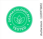 dermatologically tested icon | Shutterstock .eps vector #1105973852