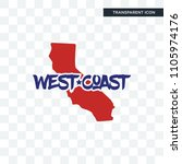west coast vector icon isolated ... | Shutterstock .eps vector #1105974176