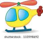 toy helicopter. vector | Shutterstock .eps vector #110598692