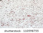 Old Brick Wall With White And...