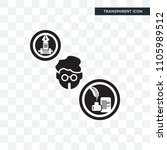 writer vector icon isolated on... | Shutterstock .eps vector #1105989512
