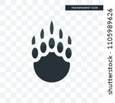 grizzly claw vector icon...   Shutterstock .eps vector #1105989626