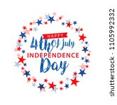 happy 4th of july usa... | Shutterstock .eps vector #1105992332