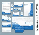 stationery set with technology... | Shutterstock .eps vector #110599718
