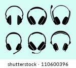 headphones | Shutterstock .eps vector #110600396