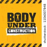 body under construction.... | Shutterstock .eps vector #1106007848