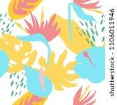 minimal summer trendy vector... | Shutterstock .eps vector #1106011946