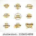 cocoa spices and coffee... | Shutterstock .eps vector #1106014898