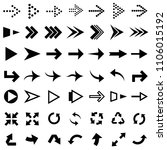 set of direction arrows of... | Shutterstock .eps vector #1106015192