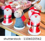 winter saami souvenirs such as... | Shutterstock . vector #1106020562