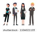 people on business meeting...   Shutterstock .eps vector #1106021135