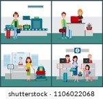 international flights... | Shutterstock .eps vector #1106022068