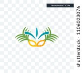 carnaval vector icon isolated...   Shutterstock .eps vector #1106023076