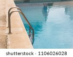ladder in pool with reflection ... | Shutterstock . vector #1106026028