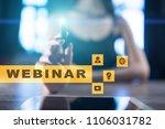 webinar. e learning  online... | Shutterstock . vector #1106031782
