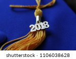 graduation 2018 tassel on top... | Shutterstock . vector #1106038628