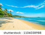 beautiful tropical beach and... | Shutterstock . vector #1106038988