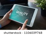 quality assurance. control and... | Shutterstock . vector #1106039768