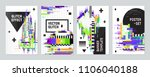 set of four posters with glitch ... | Shutterstock .eps vector #1106040188