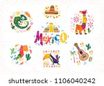 vector set of hand drawn... | Shutterstock .eps vector #1106040242