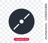 disc vector icon isolated on... | Shutterstock .eps vector #1106041886