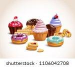 cookies biscuits cupcakes... | Shutterstock .eps vector #1106042708