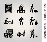 farm icon set. agricultural ... | Shutterstock .eps vector #1106044622