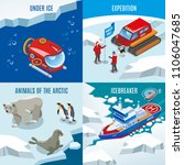 arctic research isometric... | Shutterstock .eps vector #1106047685