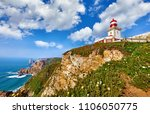 lighthouse at cape roca  cabo... | Shutterstock . vector #1106050775