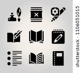 basic icon set. pure  note ... | Shutterstock .eps vector #1106051015