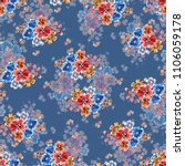 watercolor different flowers.... | Shutterstock . vector #1106059178