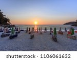 sunrise in marble beach ... | Shutterstock . vector #1106061632