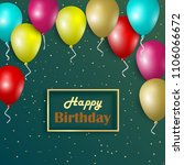 birthday card with colorful... | Shutterstock .eps vector #1106066672