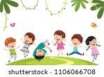 vector illustration of kids... | Shutterstock .eps vector #1106066708